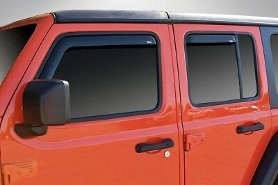 In-Channel Vent Visors for a 2018 Jeep Wrangler JL Unlimited