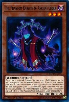 3 x The Phantom Knights of Ancient Cloak (LEHD-ENC01) - Common - 1st Edition