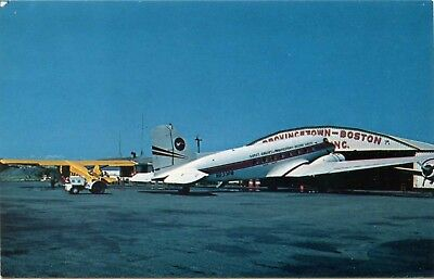 (#558) Provincetown Airport Boston Airlines Douglas DC-3 Airplane 1960s Postcard