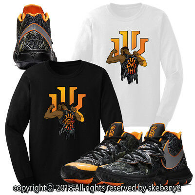 aa746c96c47a T SHIRT TO match KYRIE 3 BRUCE LEE Shoe Mens Rare Beast Graphic Pro ...