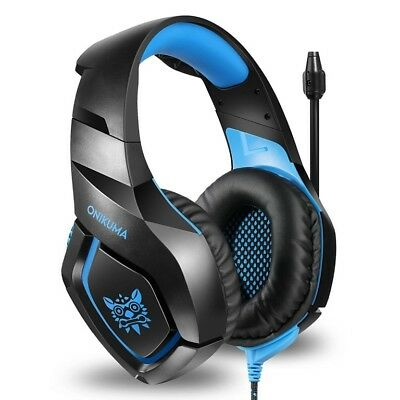 Gaming Headset for PS4 Xbox One PC Gamer Headphones Mic Stereo Noise Reduction