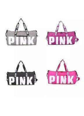 8dca22cb43 VICTORIA S SECRET LOVE Pink Duffel   Gym Bag - Grey - Free Shipping ...