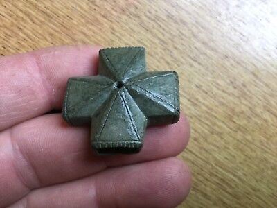 Rare Medieval Bronze Cross Strap Junction 15th Century