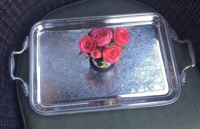 Antique Vintage English Silver Plate Tray