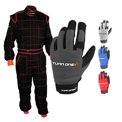 Turn One Motorsport Mechanics Overall & Glove Package Race / Rally