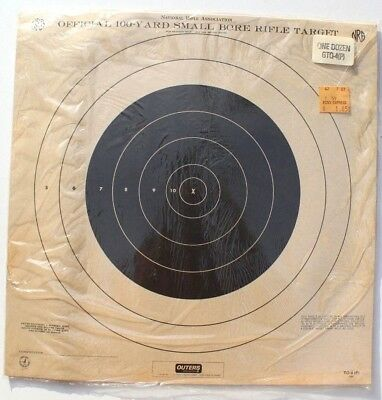 100 pack -- on Tagboard TQ-1//1 NRA Official 50 Foot Rifle Target aka A-4