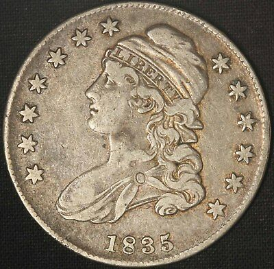 1835 Capped Bust Half Dollar - Free Shipping USA