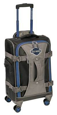 """Harley-Davidson 22"""" Independence Pass Carry-On Luggage 99122-BLUE/BLACK"""