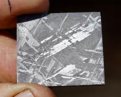 Gorgeous Etched Gibeon Iron Meteorite Thin Slice #105 Beautiful Etch 4  Jewelry