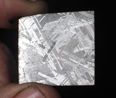 Gorgeous Etched Gibeon Iron Meteorite Thin Slice #107 Beautiful Etch 4 Jewelry!