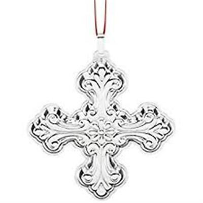 """Reed & Barton """"2016 Christmas Cross 46Th Edition Sterling Silver Ornament""""  New"""