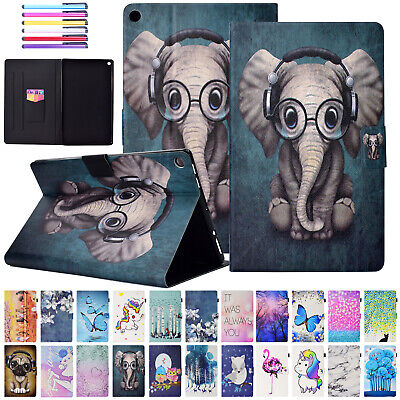 For Amazon Kindle Fire HD 10 2017/2015 Case Leather Card Holder Smart Flip Cover