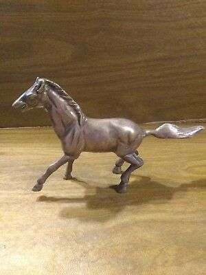 Beautiful Heavy Brass HORSE Figurine Vintage Stallion Figure Metal Statue