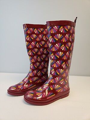 NWT - Cat & Jack Gigi Tall Rain Boots Multicolor - Girls Youth Size 3