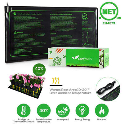 Seedfactor Waterproof Seedling Heat Mat Seed Starter Pad Germination Propagation