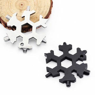 Snowflake Tool Card Wrench Combination Compact  EDC Tool 19-in-1 Multi-tool Card
