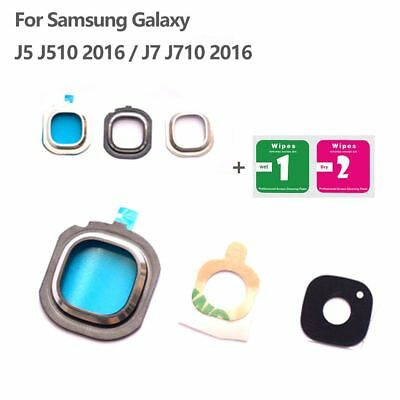 Camera Glass Lens Cover Frame Holder For Samsung Galaxy J5 J510 J7 J710 2016 New