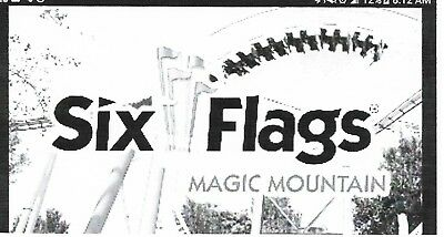 2 Six Flags Magic Mountain Tickets or other theme park single day 2018 good xmas