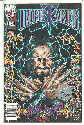 Undertaker Wwe Chaos Comics Limited 1St Edition Comic Book #1 Super Rare!