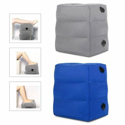 Portable Inflatable Travel Office Footrest Leg Foot Rest Cushion Pillow Kids Bed