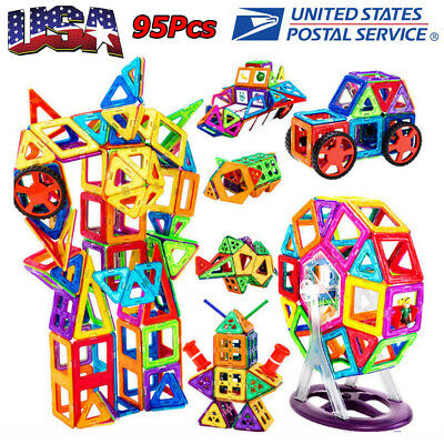 95Pcs/Set Magnetic Building Blocks Construction Children Toys Educational Block
