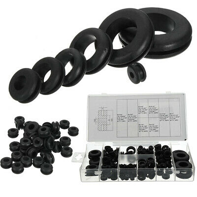 180pc Rubber Grommets Assortment Set Open Blanking Hole Wiring Cable Gasket Kit