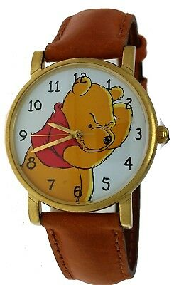 New Old Stock Disney Collection Winnie the Pooh Timex Round Leather Band Watch