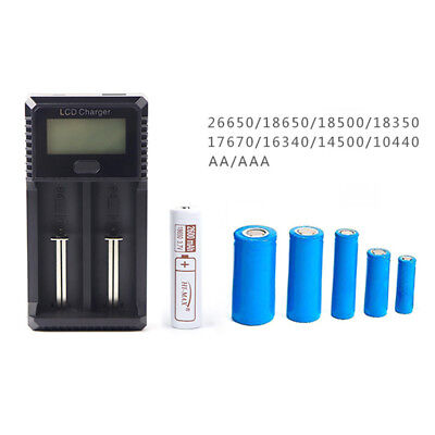 2 Slots Smart LCD Rechargeable Battery Charger for AA/AAA Ni-MH lithium battery
