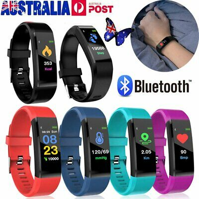 Fitness Tracker Heart Rate Monitor Sport Bracelet Pedometer Smart Watch MN