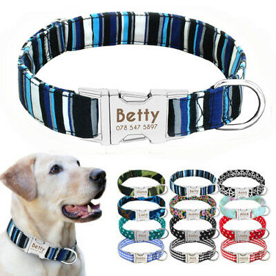 Free Personalized Dog Collar Nylon Laser Engraved Pet Name Ower Phone Anti Loss