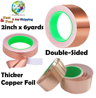 Double Sided Adhesive Tape Copper Foil Stained Glass EMI Shielding Grounding