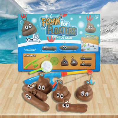 Fishin For Floaters Bathroom Tub Game Fishing For Poo Turd Novelty Xmas Gift Toy