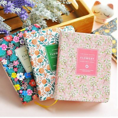 Diary Notebook Floral Schedule Book Korean PU Leather Covers Planners Accessory