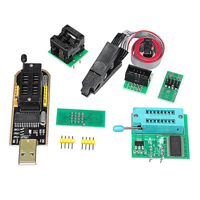 4Pcs/Set CH341A 24 25 EEPROM BIOS USB Programmer Burner Chip Clip SOIC8 Adapters
