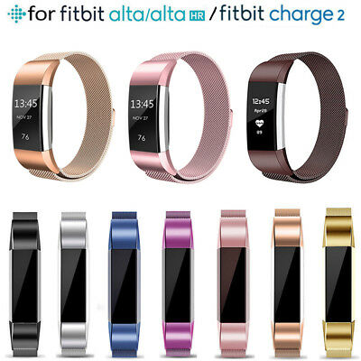 Replacement Milanese Stainless Steel For Fitbit Charge 2 / Fitbit Alta HR Strap