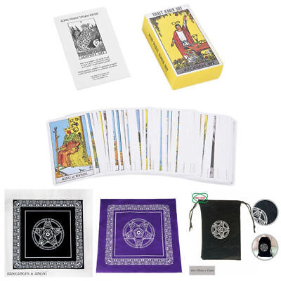 The Original Rider Waite Tarot Deck Cards/Guide book/Pentacle Tablecloth/Pouches