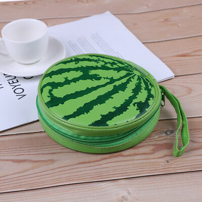 Portable watermelon style 24pcs disc capacity dvd cd storage case holder case