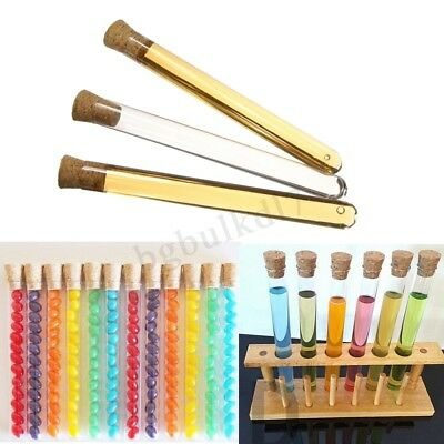 10/30X/50X 20ML Volume Plastic Test Tubes Cork Stopper Candy Party Wedding Kid