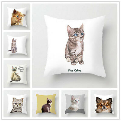 Animal Pillow Covers Cute Cat Pillow Case Cushion Cover for Home Car Decorations