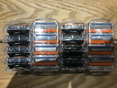 16 X Gillette Fusion 5 Replacement Razor Blades ** 100% Authentic** Brand New**