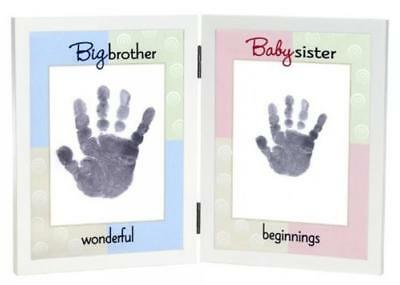 The Grandparent Gift Co. Sweet Somethings Handprint Frame, Big Brother/Baby Sist