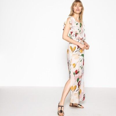 La Redoute Collections Womens Ruffled Floral Print Maxi Dress