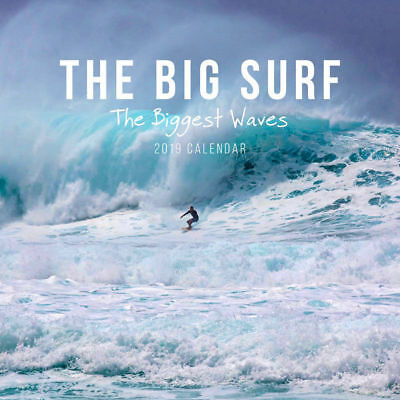 The Big Surf-Biggest Waves 2019 Surfing Wall Calendar by Paper Pocket, Free Post