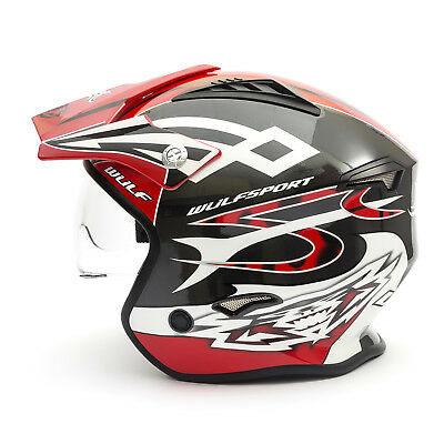 Wulfsport Adult Vista Helmet Large Red Motocross Off Road Racing ATV Pitbike