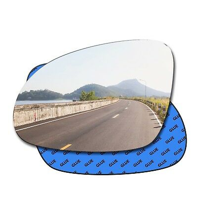 For PEUGEOT 208 2012-2018 Wing Mirror Glass Convex  Left Side #TV010