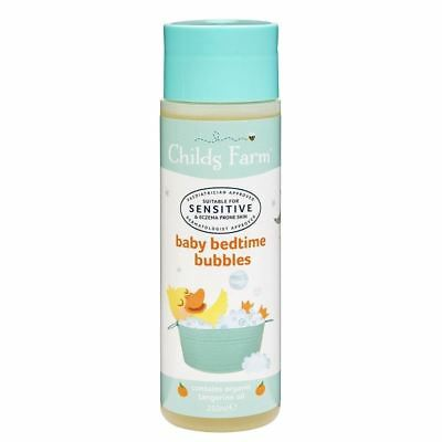 Childs Farm Baby Bedtime Bubbles Tangerine Oil 250ml 1 2 3 6 12 Packs