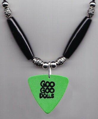 Goo Goo Dolls Robby Takac Green Bass Guitar Pick Necklace