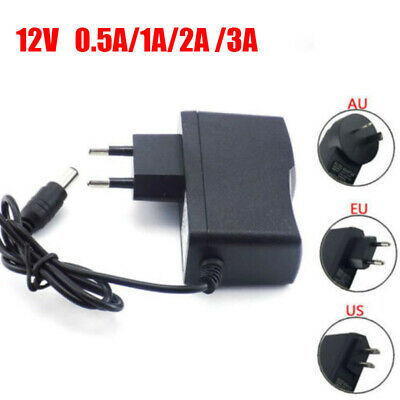 AC DC 12V 0.5A 1A 2A 3A 500MA Power Supply Adapter plug Converter for Led strip