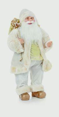 Premier Standing Santa Claus Father Christmas With Glasses GOLD 60cm