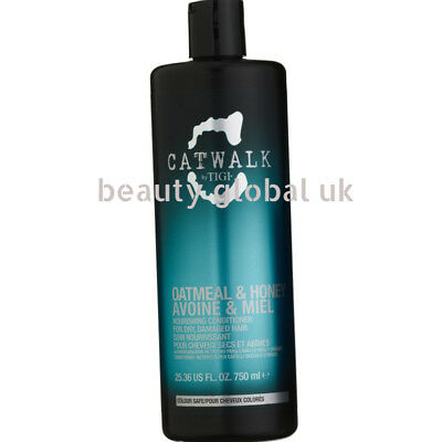 Tigi catwalk oatmeal & honey nourishing conditioner 750ml for dry, damaged hair